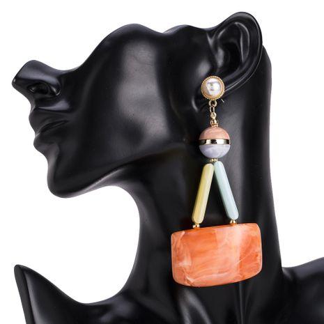 Fashion Plastic  earring Geometric (Orange)  NHJE1064-Orange's discount tags