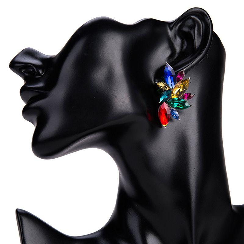Fashion Alloy Rhinestone earring Geometric (color)  NHJE1088-color
