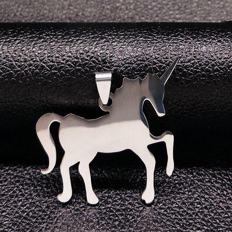 Fashion Titanium&Stainless Steel Fine polishing electroplating necklace Animal (Single pendant)  NHSK0196-Single pendant's discount tags