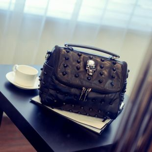 Fashion PU  handbag  (Black Skull)  NHSK0229-Black Skull's discount tags