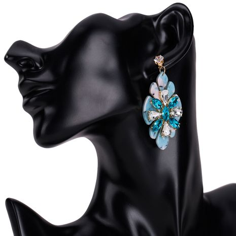 Alloy Fashion Flowers earring  (blue) NHJE1175-blue's discount tags
