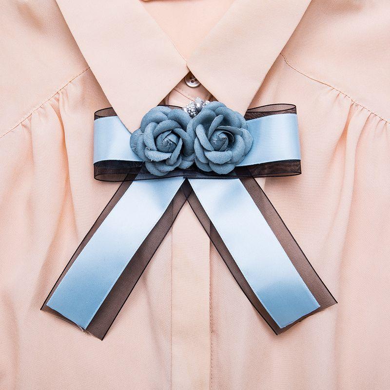 Alloy Fashion Bows brooch  (blue) NHJE1179-blue