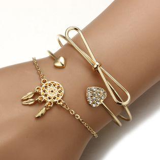 Bracelet noeud de mode en alliage (alliage) NHGY1729-alliage
