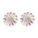 Imitated crystalCZ Fashion Flowers earring  black NHJJ4607black