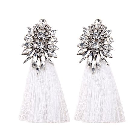 Imitated crystal&CZ Fashion Geometric earring  (white) NHJQ10014-white's discount tags