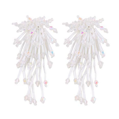 Leather Fashion Geometric earring  (white) NHJQ10060-white's discount tags