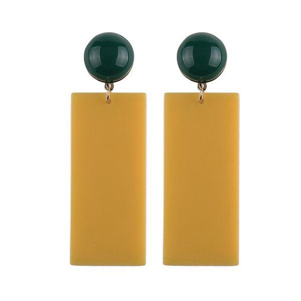 Acrylic Korea Geometric earring  (yellow) NHJQ10120-yellow
