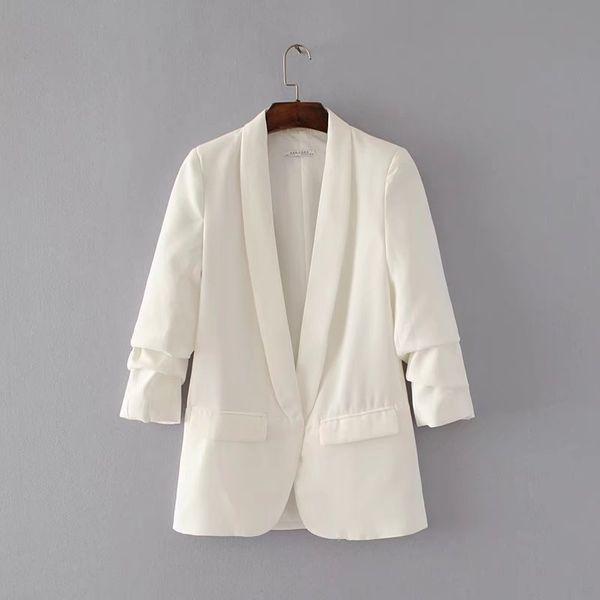 Polyester Fashion  coat  (White-S) NHAM2172-White-S