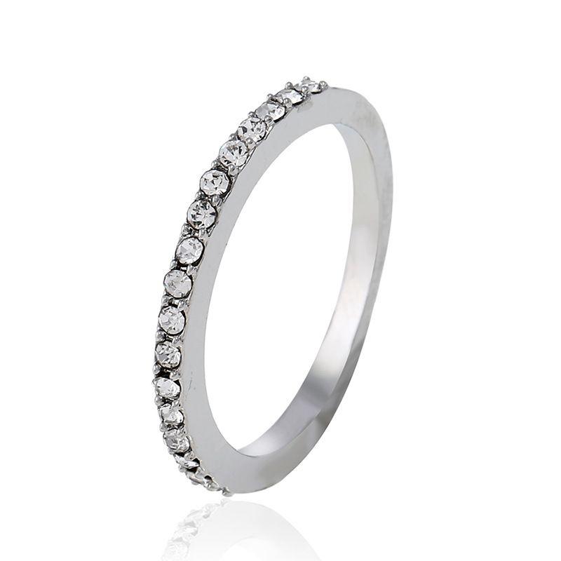 Alloy Fashion Geometric Ring  (White K-5) NHNZ0391-White K-5