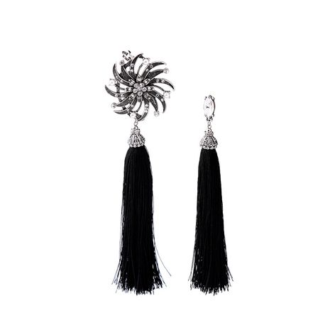 Alloy Fashion Tassel earring  (Black-1) NHQD5089-Black-1's discount tags