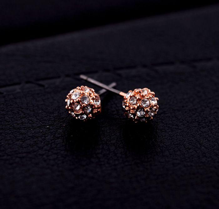 Alloy Korea Geometric earring  White imitated crystal NHQD4717White imitated crystal
