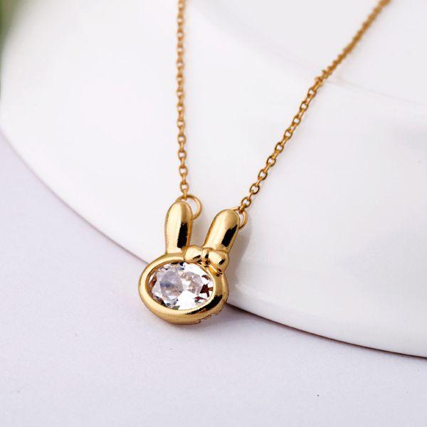 Alloy Korea Animal necklace  (transparent white) NHQD4896-transparent white