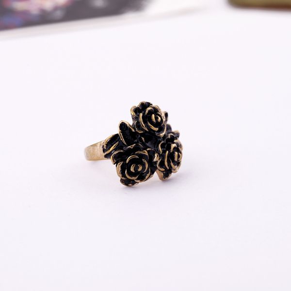 Alloy Vintage Flowers Rings  (Vintage alloy) NHQD4928-Vintage alloy