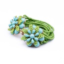 Alloy Fashion Flowers bracelet  green NHQD4684green