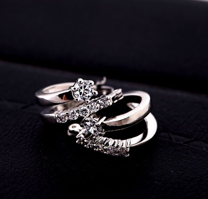Alloy Korea Geometric earring  Platinum section NHQD5046Platinum section