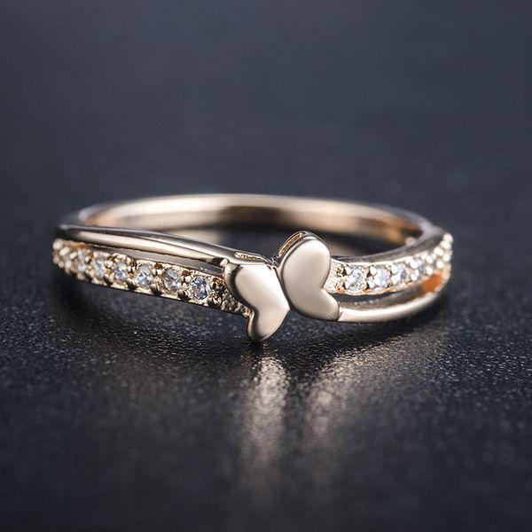 Alloy Korea Bows Ring  (Rose Alloy-7) NHLJ3903-Rose-Alloy-7
