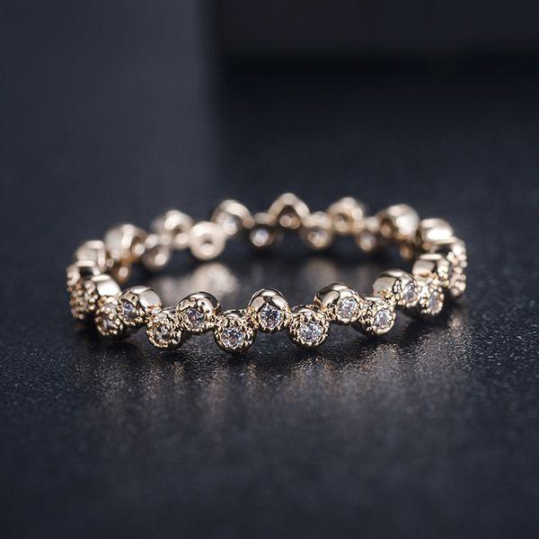 Alloy Korea Geometric Ring  (Rose Alloy-7) NHLJ3914-Rose-Alloy-7