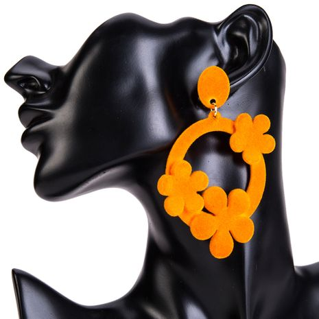 Cloth Fashion Flowers earring  (yellow) NHJE1327-yellow's discount tags