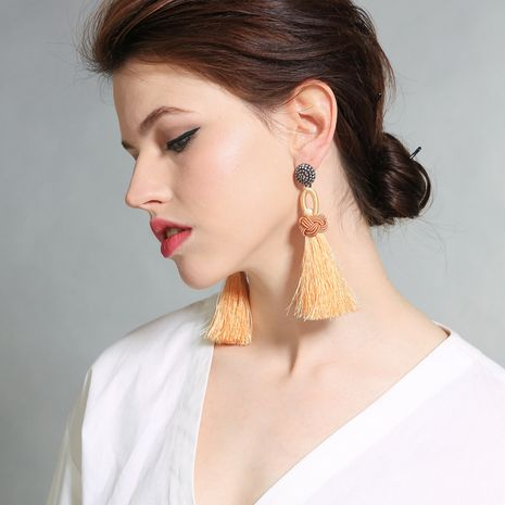 Alloy Fashion Tassel earring  (Photo Color) NHQD5202-Photo-Color's discount tags