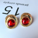 Alloy Simple  earring  red NHOM0274red