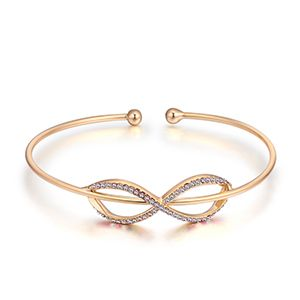 Import Imitated crystal Open Bracelet - Charm (Champagne Alloy) NHKSE28297's discount tags