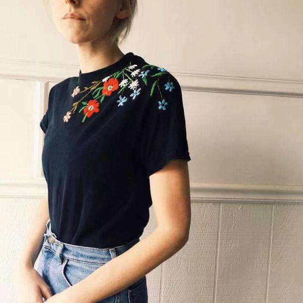 Cotton Fashion  T-shirt  (Black-S) NHAM2821-Black-S