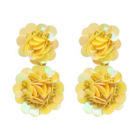 Plastic Fashion Flowers earring  (yellow) NHJJ4743-yellow's discount tags
