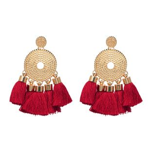 Alloy Bohemia Geometric earring  (red) NHJJ4744-red's discount tags