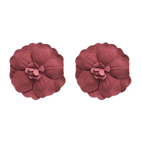 Plastic Fashion Flowers earring  (red) NHJJ4745-red's discount tags