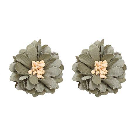 Cloth Korea Flowers earring  (green) NHJJ4764-green's discount tags
