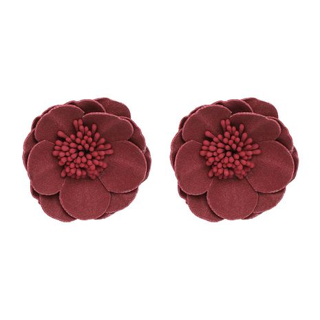 Plastic Fashion Flowers earring  (red) NHJJ4765-red's discount tags