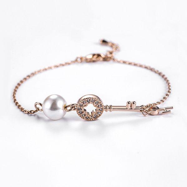 Alloy Fashion Geometric bracelet  (Rose alloy) NHLJ3933-Rose alloy