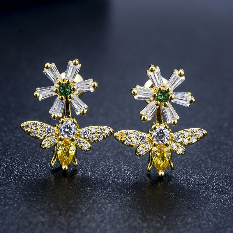 Copper Korea Geometric earring  (Alloy) NHLJ3935-Alloy