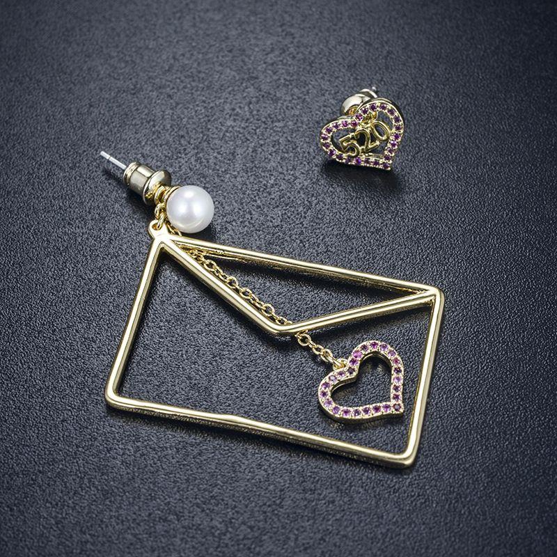 Copper Korea Geometric earring  (Alloy) NHLJ3942-Alloy