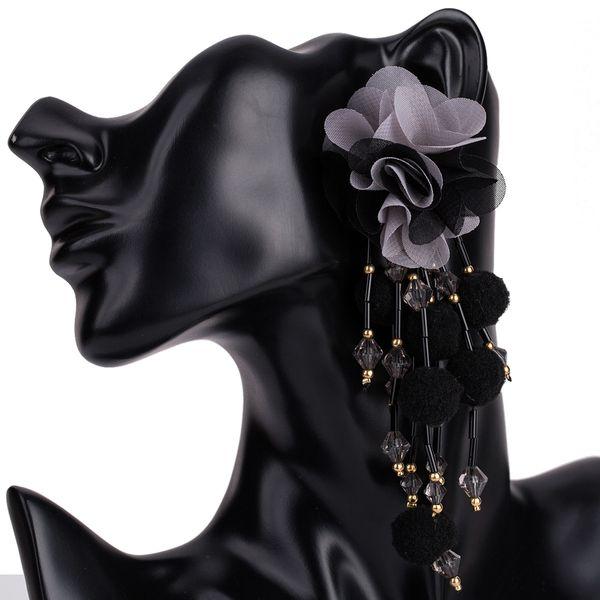 Alloy Fashion Flowers earring  (black) NHJE1362-black
