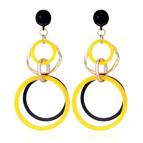 Acrylic Fashion Geometric earring  (yellow) NHVA4905-yellow's discount tags