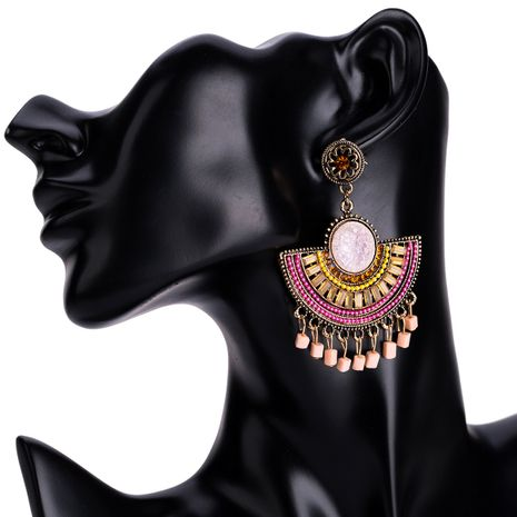 Alloy Fashion Geometric earring  (Pink) NHJE1368-Pink's discount tags