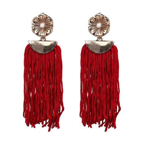 Alloy Vintage Flowers earring  (red) NHJJ4660-red's discount tags