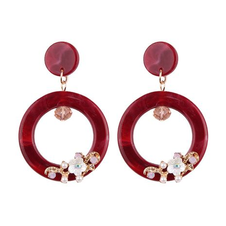 Acrylic Fashion Geometric earring  (red) NHJQ10138-red's discount tags