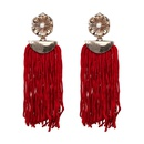 Alloy Vintage Flowers earring  red NHJJ4660red