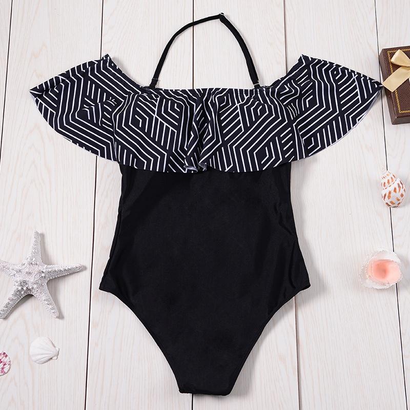 Sexy Polyester  Swimsuit (Y7023 lotus leaf - XL)  NHCC0502-Y7023 lotus leaf - XL