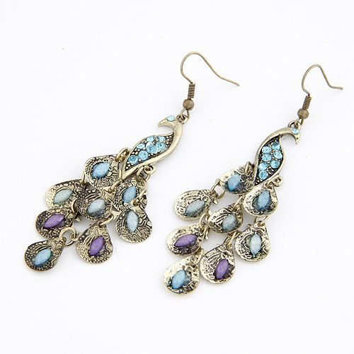 Classic delicate peacock earrings 207929