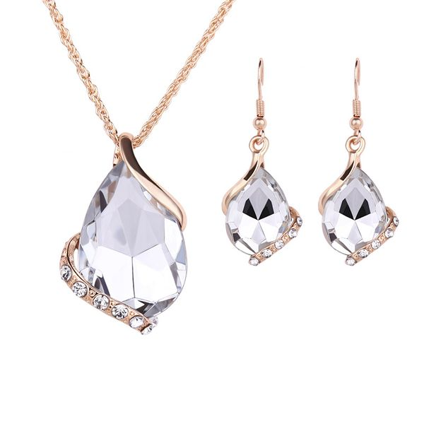 Occident alloy Drill set earring + necklace NHXS0620