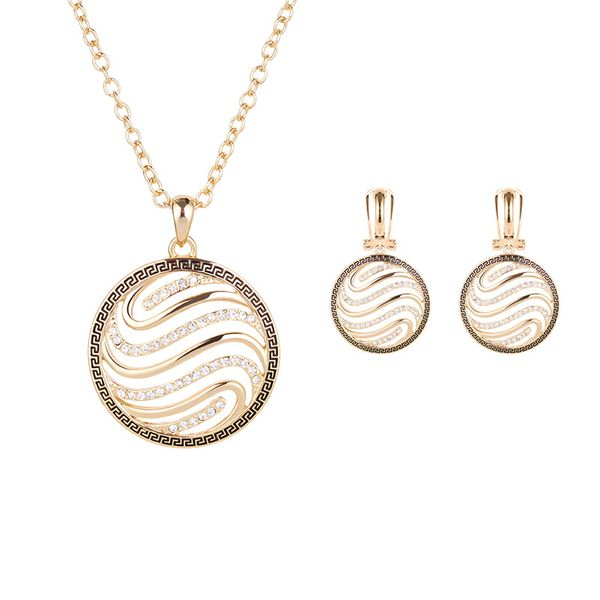 Occident alloy Drill set earring + necklace NHXS0630