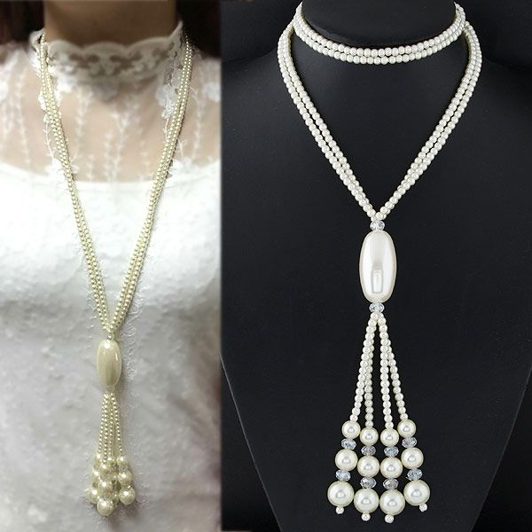 Alloy beadss necklace NHNSC4605