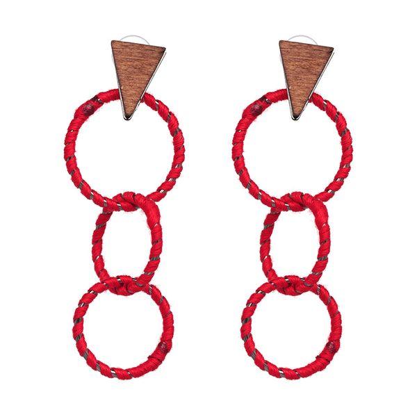 Alloy Fashion Geometric earring  (red) NHJJ4781-red
