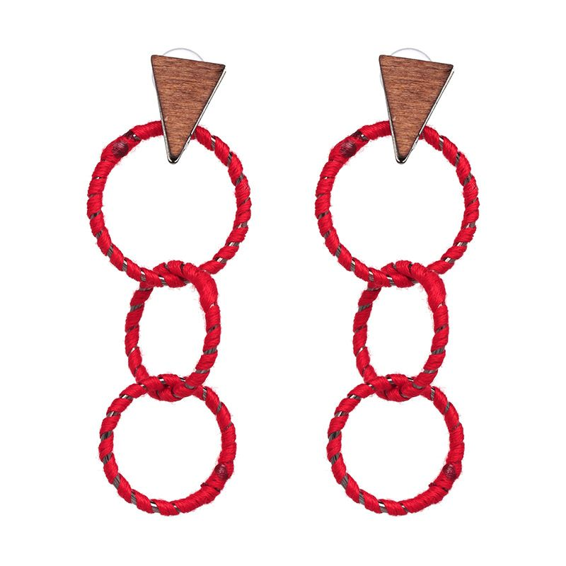 Alloy Fashion Geometric earring  (red) NHJJ4781-red