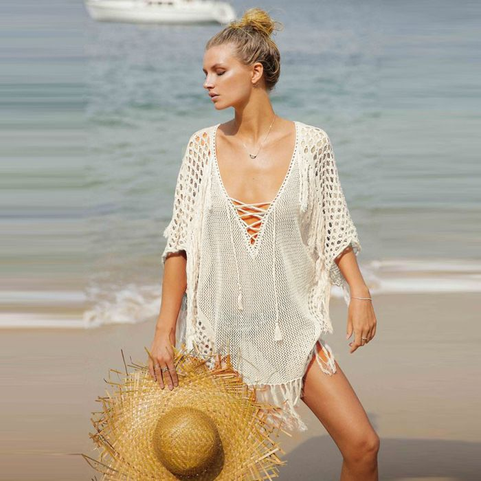 Polyester Fashion  coat  (White - One Size) NHXW0261-White-One-Size