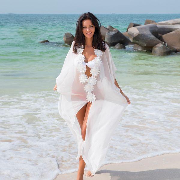 Chiffon Fashion  Bikini  (White - One Size) NHXW0293-White-One-Size