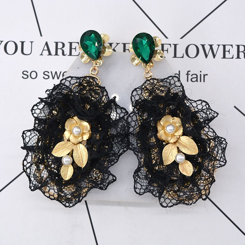 Alloy Fashion Flowers earring  (Alloy) NHNT0488-Alloy
